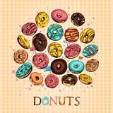 De reeks van Donuts stock illustratie