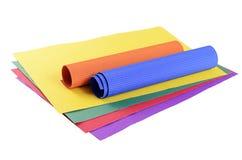 De reeks van een kleur omfloerst document dichte omhooggaand Royalty-vrije Stock Foto's