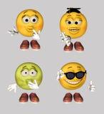 De Reeks van Emoticon stock illustratie
