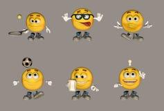De Reeks van Emoticon Royalty-vrije Stock Afbeeldingen
