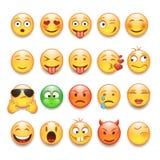 De reeks van Emoticons Royalty-vrije Stock Foto