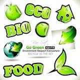 De reeks van gaat Groene BioMarkeringen Stock Fotografie