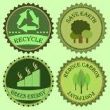De reeks van gaat groene inzamelingen Stock Foto