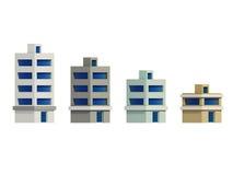 De reeks van geeft gebouwen, Uitbreiding van terug de reeks Stock Foto