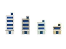 De reeks van geeft gebouwen, Uitbreiding van terug de reeks Stock Fotografie