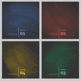 De reeks van gekleurde borstel strijkt kleurrijke verven Royalty-vrije Stock Foto