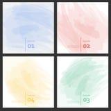 De reeks van gekleurde borstel strijkt kleurrijke verven Stock Foto