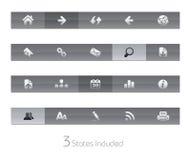 De Reeks van // Gelbar van de Navigatie van het Web vector illustratie
