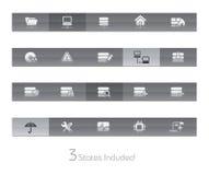 De Reeks van // Gelbar van het netwerk & van de Server stock illustratie