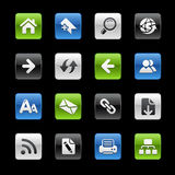 De Reeks van // Gelbox van de Navigatie van het Web royalty-vrije illustratie