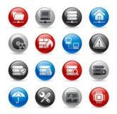 De Reeks van // Gelpro van het netwerk & van de Server Royalty-vrije Stock Fotografie