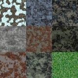De reeks van geroest metaal produceerde naadloze texturen stock illustratie