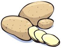 De reeks van groenten: aardappels Royalty-vrije Stock Afbeeldingen