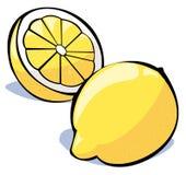 De reeks van groenten: citroenen Stock Afbeelding