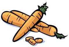 De reeks van groenten: wortelen Royalty-vrije Stock Fotografie