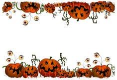 De reeks van Halloween - pompoenmonster Stock Foto