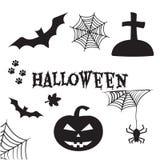 De reeks van Halloween De Vooravond van al Hallows, de Vooravond van Alle Heiligen Vector illustratie stock illustratie