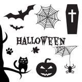 De reeks van Halloween De Vooravond van al Hallows, de Vooravond van Alle Heiligen Vector illustratie royalty-vrije illustratie
