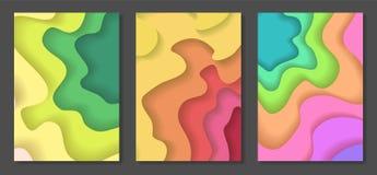 De reeks van de heldere zomer kleurt document besnoeiingsachtergronden Stock Fotografie