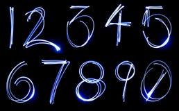 De Reeks van het Aantal van het neon Royalty-vrije Stock Afbeelding
