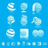 De reeks van het aardepictogram Stock Afbeeldingen