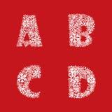 De Reeks van het alfabet. De brieven van ABC van Kerstmis en van het Nieuwjaar. Royalty-vrije Stock Afbeeldingen