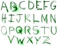 De reeks van het Alfabet van het neon Stock Afbeelding