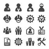 De reeks van het arbeidspictogram vector illustratie