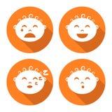 De reeks van het babygezicht Stock Afbeelding
