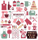 De reeks van het bakkerijpictogram Royalty-vrije Stock Foto