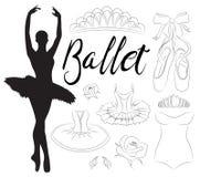 De reeks van het balletpictogram Stock Afbeelding