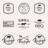 De reeks van het barbecueembleem royalty-vrije stock fotografie