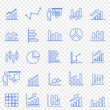 De reeks van het bedrijfsgrafiekpictogram 25 Vectorpictogrammenpak stock illustratie