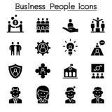 De reeks van het bedrijfsmensenpictogram stock illustratie