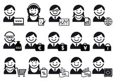 De reeks van het bedrijfsmensenpictogram Stock Afbeelding