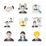 De reeks van het bedrijfsmensenpictogram stock fotografie