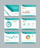 De reeks van het bedrijfspresentatiemalplaatje Power Point-de achtergronden van het malplaatjeontwerp Royalty-vrije Stock Afbeeldingen