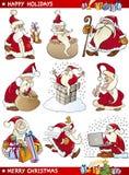 De Reeks van het beeldverhaal Thema's van Kerstmis Stock Afbeelding