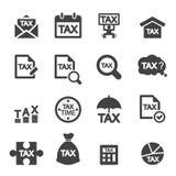 De reeks van het belastingspictogram Stock Foto