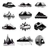 De Reeks van het bergpictogram royalty-vrije illustratie