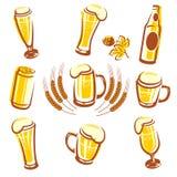 De Reeks van het bier Stock Afbeelding