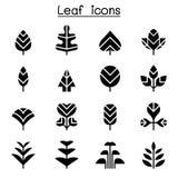 De reeks van het bladpictogram vector illustratie