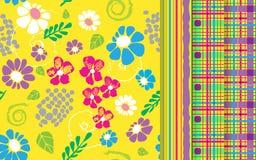 De reeks van het bloemengeklets Vector illustratie Royalty-vrije Stock Afbeeldingen