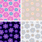De reeks van het bloempatroon Royalty-vrije Stock Afbeelding