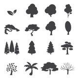 De reeks van het bomenpictogram Royalty-vrije Stock Afbeelding