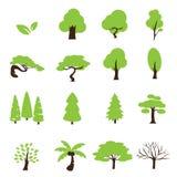 De reeks van het bomenpictogram Royalty-vrije Stock Foto