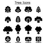 De reeks van het boompictogram stock illustratie