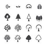 De reeks van het boompictogram Stock Afbeelding