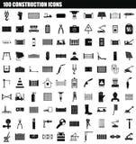 de reeks van het 100 bouwpictogram, eenvoudige stijl stock illustratie