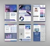 De Reeks van het brochuremalplaatje Stock Afbeelding